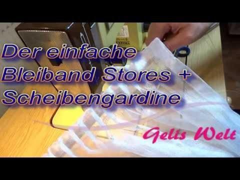 Bleiband Stores & Scheibengardine auf Band einfach, schnell DIY
