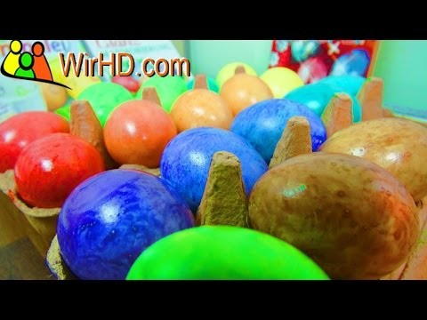 Coloring Easter Eggs With Glam marbling - DIY Eier färben, Ostereier Farbe