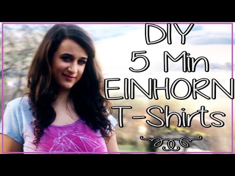DIY 5 Einhorn T-Shirts ✮ + Einhorn Geschenksidee Rahmen ♥