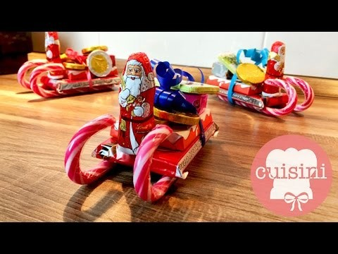 Geschenkidee Süßigkeiten Schlitten   DIY Weihnachtsgeschenk günstig & schnell - CUISINI