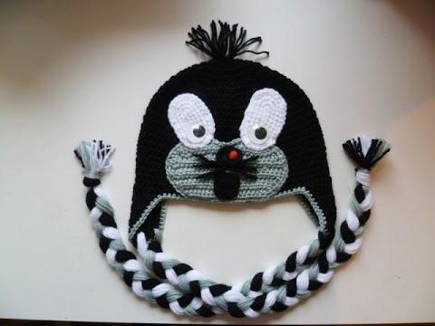 Maulwurfmütze häkeln - Tiermütze - Mütze - Maulwurf - crochet Beanie - Ohrenklappen