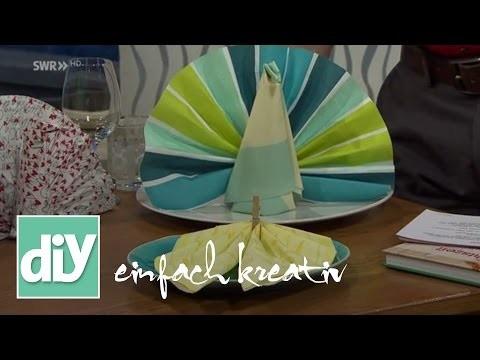 Servietten-Ideen für festliche Anlässe | DIY einfach kreativ