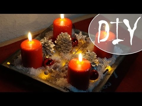Advents Dekoration. Adventskranz ~ (DIY. Tutorial)