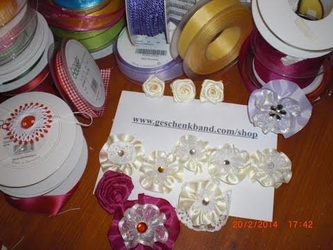 DIY - Blüten aus Stoff - Stoffblumen aus Spitze und Schleifenband