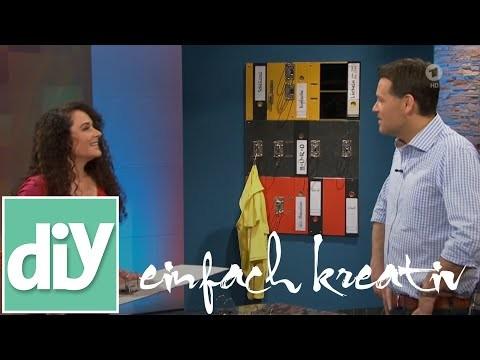 Garderobe aus Aktenordnern | DIY einfach kreativ