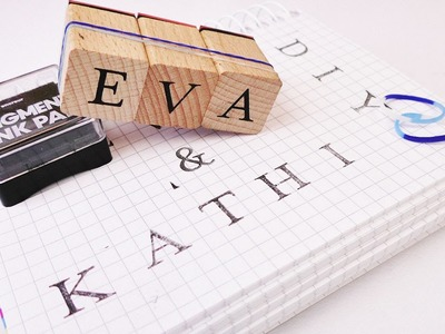 Tipps & Tricks für Stempel | Wörter & Namen schnell und sauber stempeln | Super einfacher Trick
