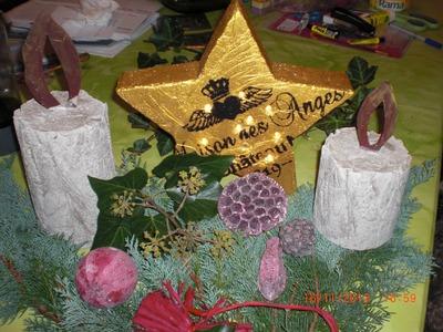 Beton giessen - DIY -  Weihnachtsstern - beleuchteter Stern aus Beton