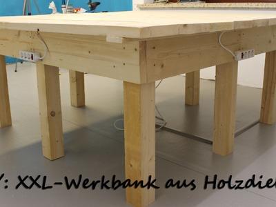 DIY Heimwerken Werkstatt: XXL-Werkbank aus Holzdielen | kreativBUNT