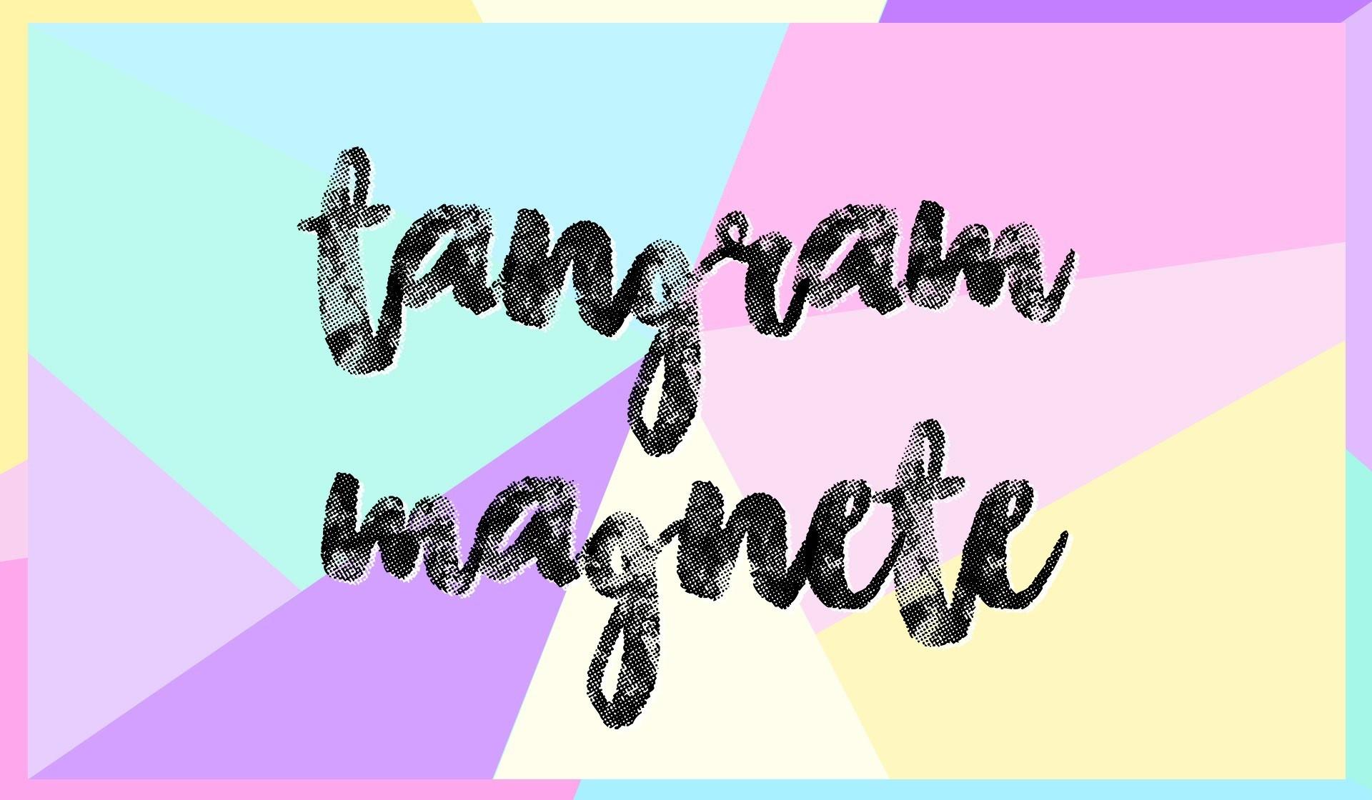 DIYTangram Magnete Tutorial | Geschenke & Deko mit Salzteig selber basteln