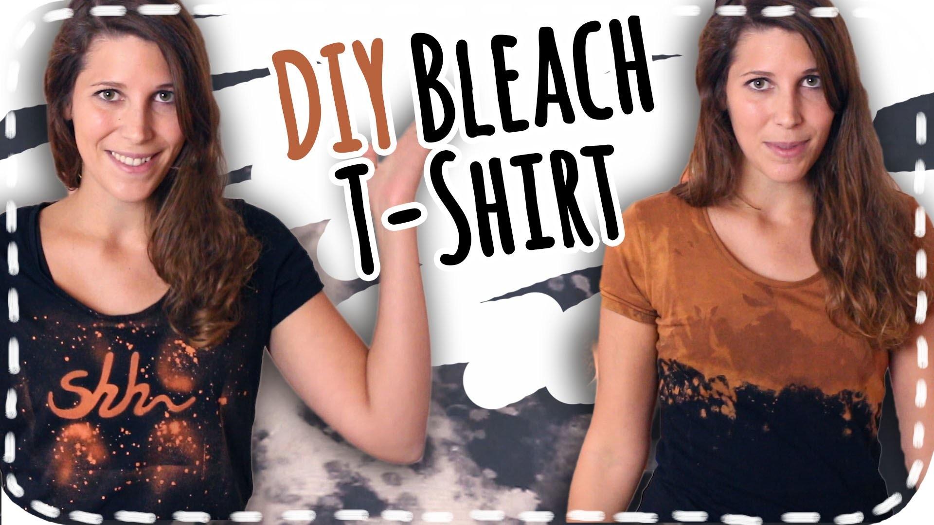 DIY Bleach T-Shirt | 3 Arten zu bleichen