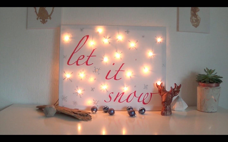 DIY Winter Room Decor: Ein Bild für Dein Zimmer