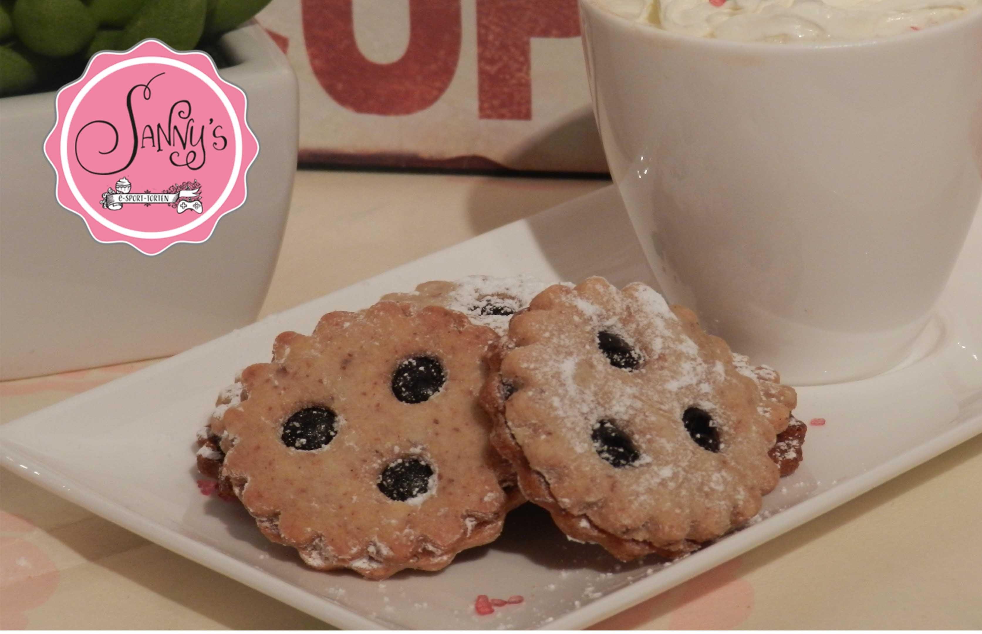 Linzer Augen.Linzer eye cookies.How to make by Sanny´s eSport Torten
