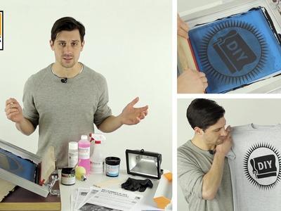 T-Shirts selbst gestalten und bedrucken. DIY Siebdruck Set