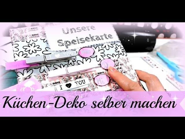 Deko für Küche selber machen ♥ Speisekarte ♥ DIY basteln mit Washi Tape ♥ Tutorial deutsch