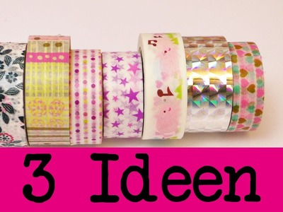 DIY Inspiration Challenge #39 Washitape 3 Ideen | Evas Challenge | Tutorial - Do it yourself HD