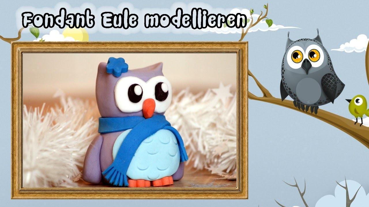 Fondant Eule - Cake Design - How to Do