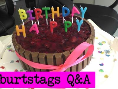 Happy Birthday! Q&A - Antworten. DIY Inspiration Geburtstagsvideo. Evas & Kathis Antworten