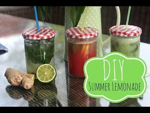 DIY Summer Lemonade - gesund & lecker 2015
