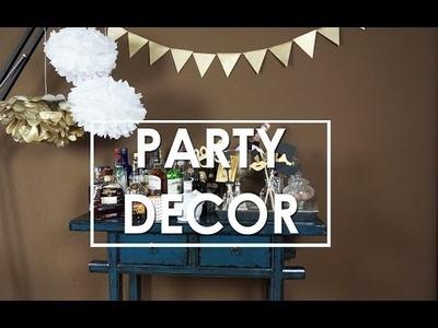Einfache DIY Party Deko Ideen  (Fotoaccessoires, Pompoms, Wimpelgirlande) | Eileena Ley
