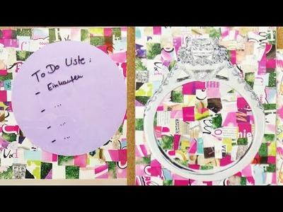 Tolle Dekoideen mit Zeitschriften | DIY Zimmerdeko aus Zeitschriften selber machen | Süße Ideen