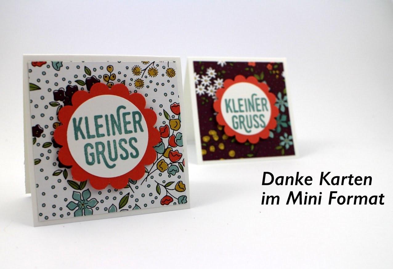 DIY** Danke Karten im Mini Format** Karten basteln** Anleitung   HD