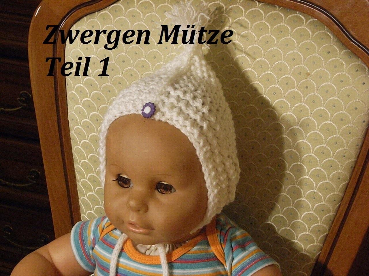 DIY Kindermütze stricken*Teil 1**Baby Mütze*einfach Stricken*Zwergen Mütze Tutorial Handarbeit