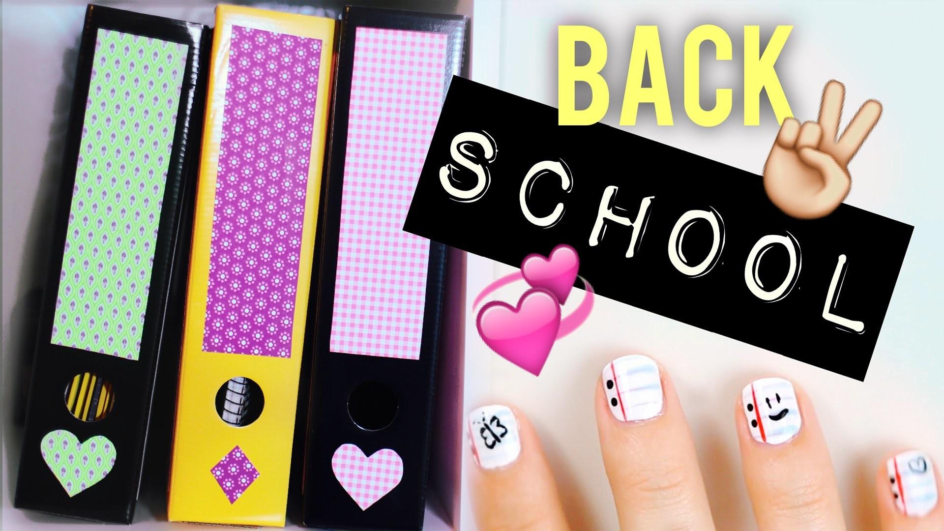 BACK TO SCHOOL DIY IDEEN + NAGELDESIGN mit Alycia Marie