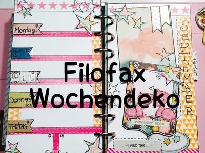 DIY---Wochendeko---Planer---KW37 |Filofax [ watchMEcraft ]