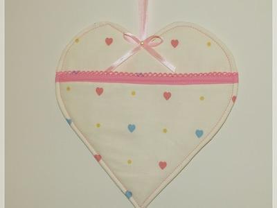 Käthes Nähstunde DIY Taschenherz Valentinstag. Muttertag Nähen für Anfänger