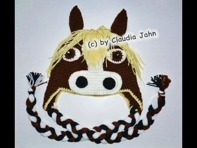 Pferdemütze häkeln - Mütze - Tiermütze - Pferd - Pony - Beanie - crochet