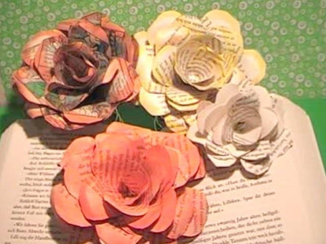 Tolle Rosen  aus Papier schnell und einfach.Great roses of paper very easy