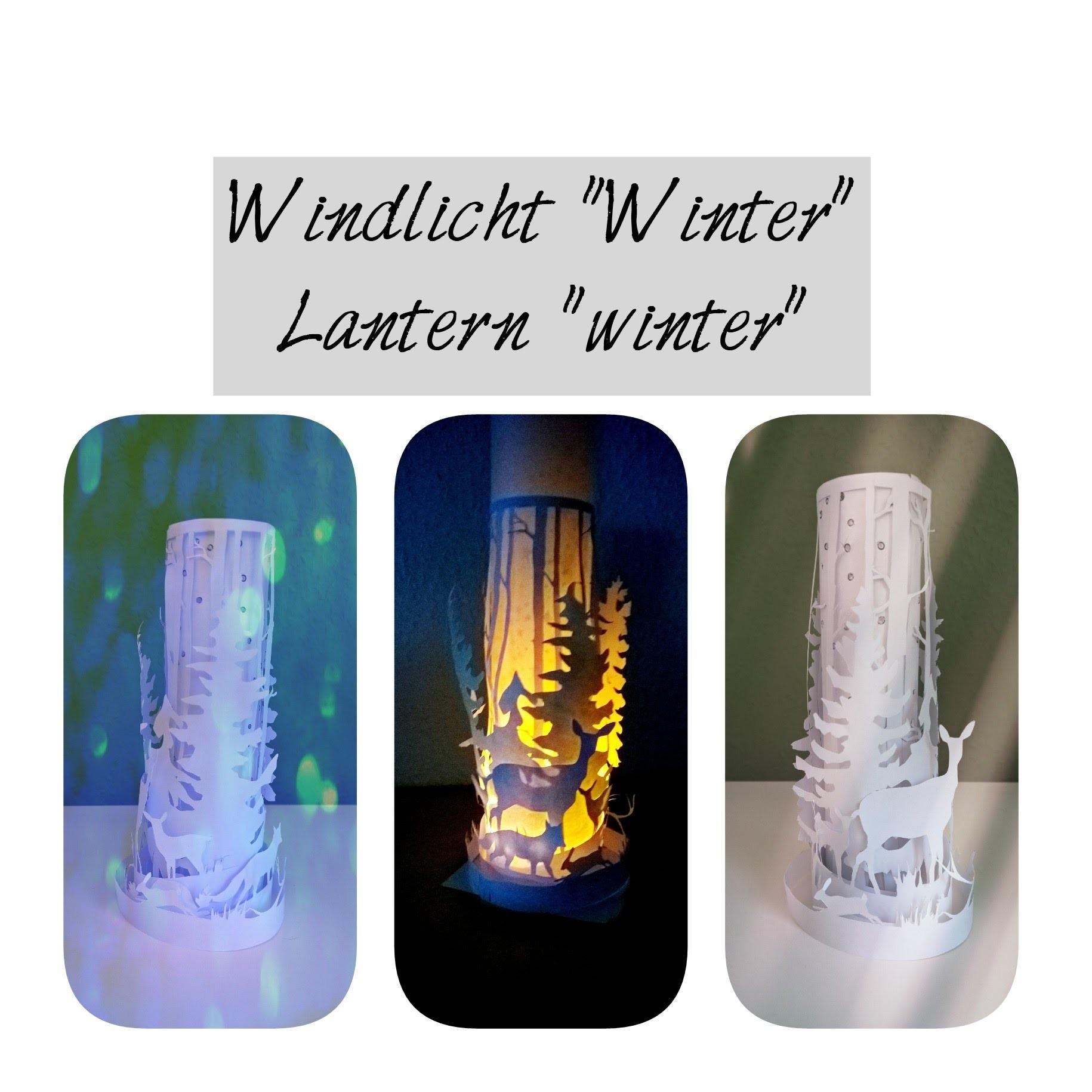 """Windlicht """"Winter"""" basteln, paper lantern winter"""