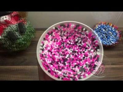 DIY Schale.Aufbewahrung basteln aus Bügelperlen, schnelle und einfache Bastelidee