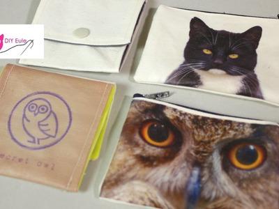 Mini Täschchen mit Fotodruck von Graphicstock.com   DIY Eule