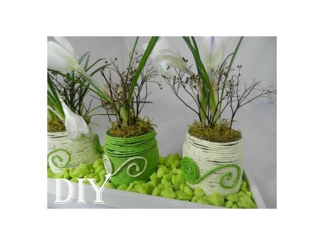 DIY: Blumendeko für den Frühling. spring flower decor