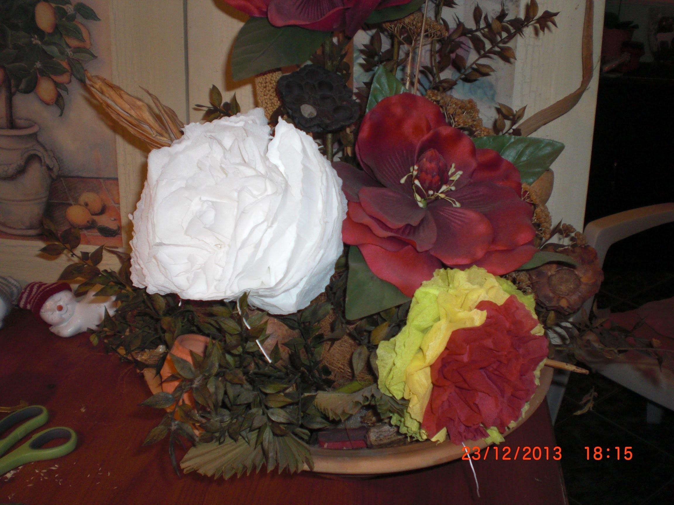 DIY - Papierblüten in 5 Minuten - aus Servietten