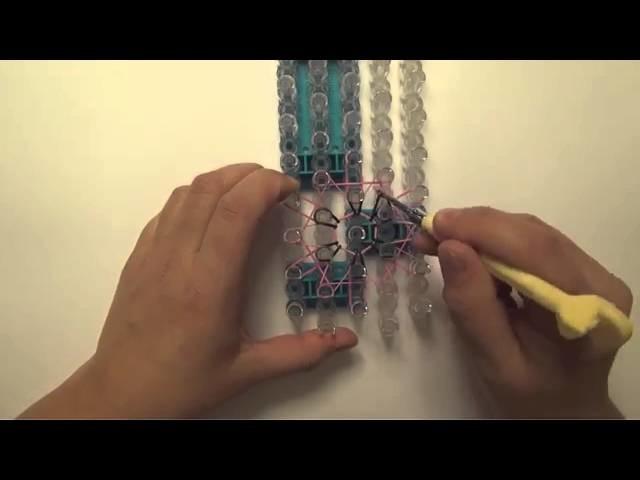 Loom Bandz Anhänger mit zwei Rainbow Loom knüpfen, Anleitung deutsch