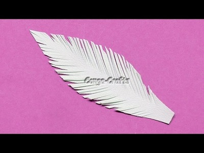 Feder aus Kunstleder. feather from faux leather DIY