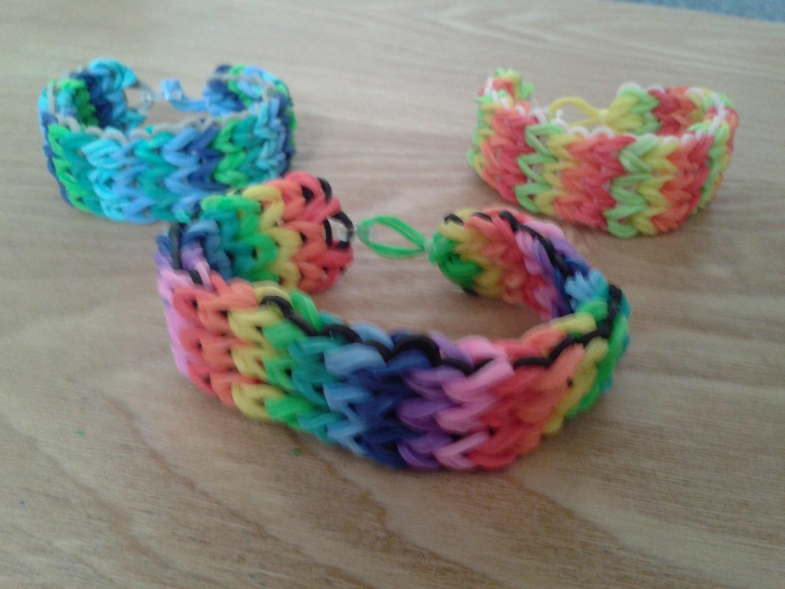 Rainbow Loom Dreifach-Armband ohne Verlängerung