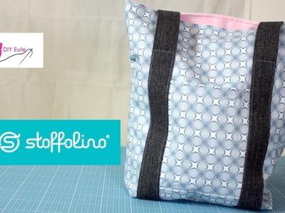 Tasche mit Gurtband nähen - DIY Eule & Stoffolino.de
