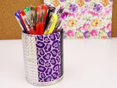 DIY Ducktape Stiftdose aus Ducktape-Resten und leeren Rollen | Wiederverwenden - Upcycling Idee