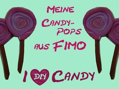 DIY Knete Lollipops. Fimo Lollis. Lutscher (mit Fimo von Aniela. Anielas Fimo)