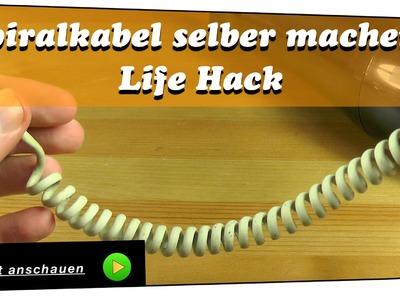 Spiralkabel selber machen - Life Hack | DIY