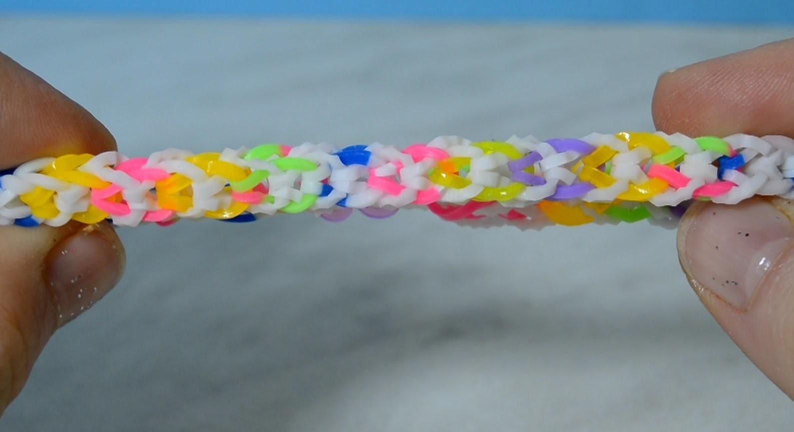 Rainbow Loom Inverted Fishtail Bracelet With Mini Loom-Without Loom