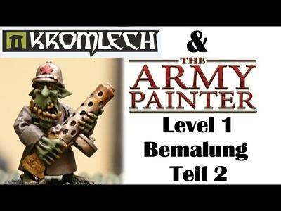 Wie bemale ich Kromlech Miniaturen mit The Army Painter Farben in unter 20 Minuten Teil 2 - Anfänger