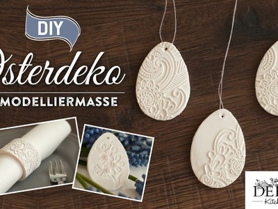 DIY: edle Osterdeko und Serviettenringe selber machen | Deko Kitchen