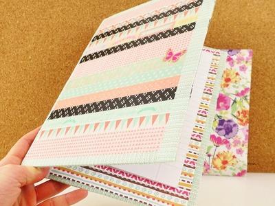 DIY Heft mit Umschlag | Back to School | Hausaufgabenheft, Heftschoner & Mappe | Washitape