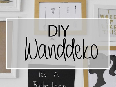 DIY I Wanddekoration in Gold