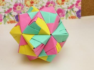 DIY Origami Stern 30 Teile | SONOBE BALL | Origami Entspannung & Dekoration | DIY Star