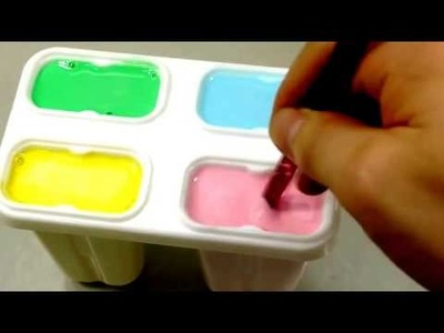 Eis mit Play Doh machen-Lutscher aus Knete machen | How to Make 'Milk Ice Cream Bar'